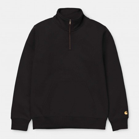 Chase Neck Zip Sweat Black / Gold