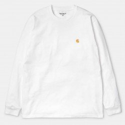 L/S Chase T-Shirt White / Gold
