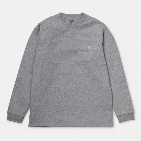 L/S Chase T-Shirt Grey Heather / Gold