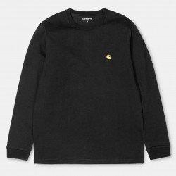 L/S Chase T-Shirt Black / Gold