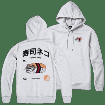 Tealer Hoodie Sushi Gang Blanc