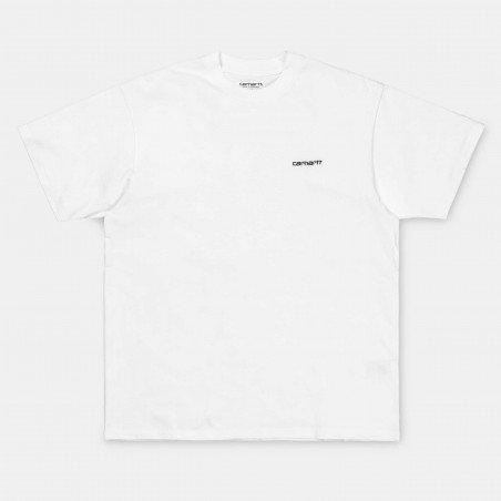 S/S Script Embroidery T-Shirt White / Black