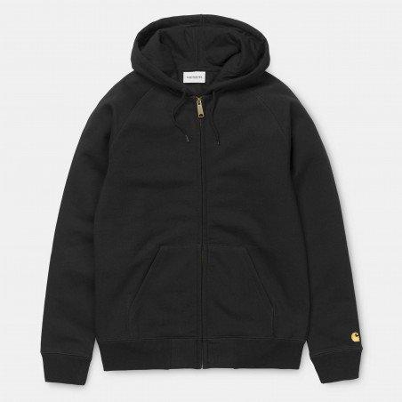 Hooded Chase Jacket Black / Gold