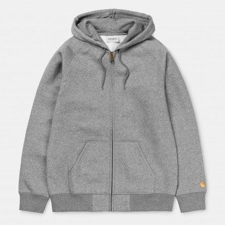 Hooded Chase Jacket Grey Heather / Gold