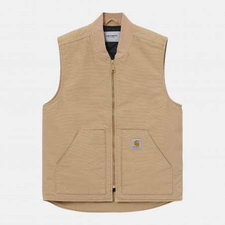 Classic Vest Dusty H brown Rinsed
