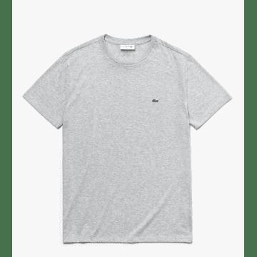 Lacoste - T-shirt Gris Chiné