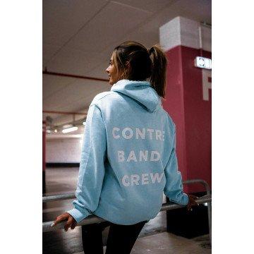 CONTREBANDE - Hoodie Crew Bleu